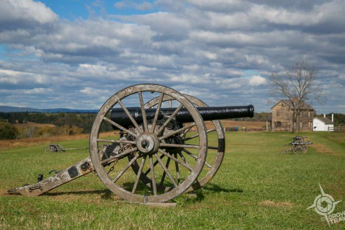canon at Manassas National Battlefield