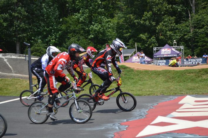 A group of BMX bikers