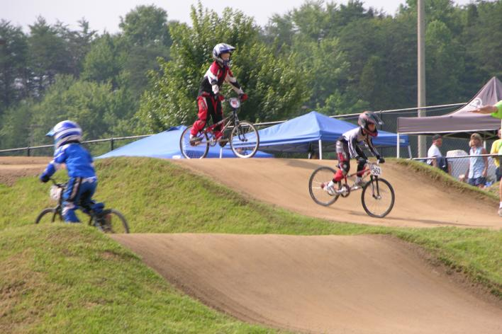 BMX Bikers on a race course