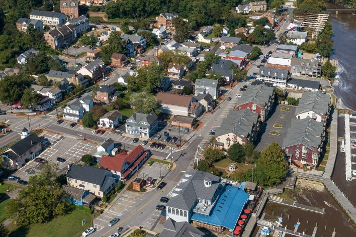 Occoquan Aerial View of town and river