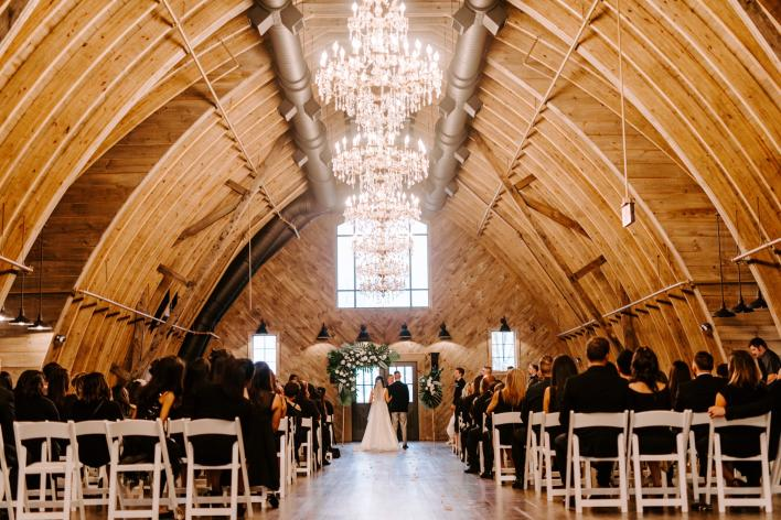 Sweeney Barn Interior Wedding Ceremony