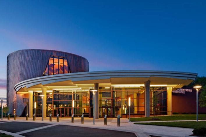 Exterior of the Hylton Performing Arts Center