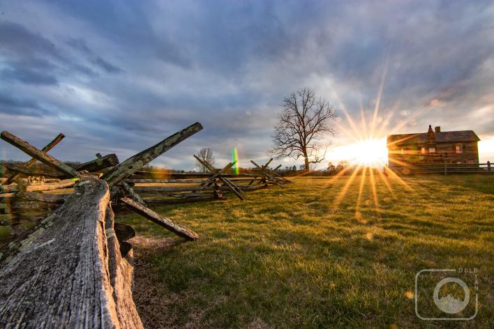 Manassas Battlefield Sunrise at Henry Hill
