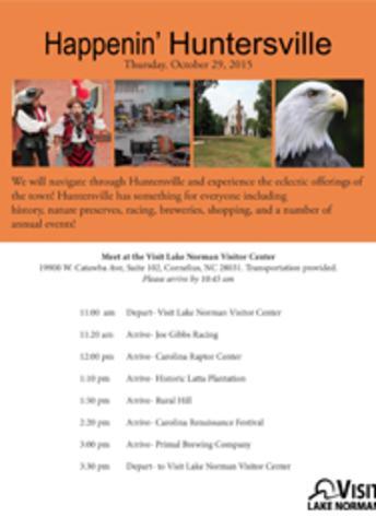 Huntersville FAM Tour Itinerary
