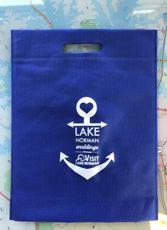 blue wedding bag, anchor, lake norman weddings