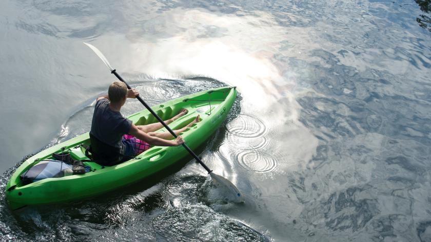 Green Kayaker