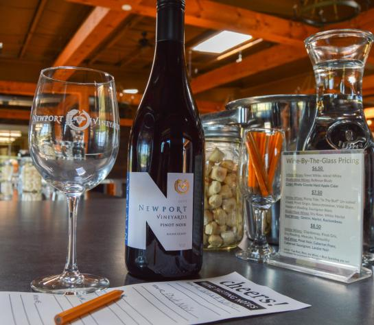 Wine Tasting at Newport Vineyards