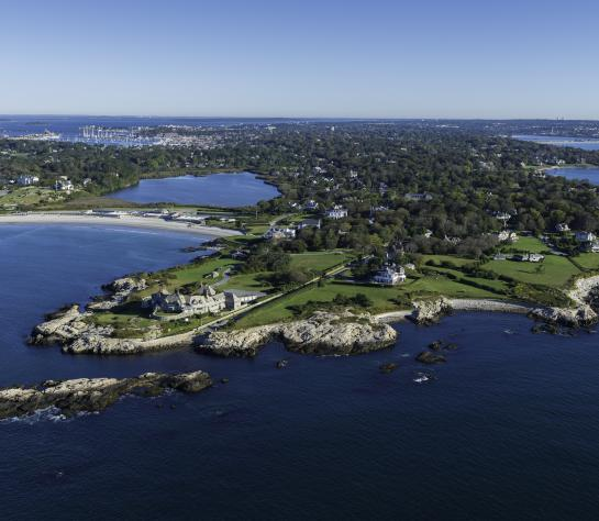 Aerial view of Newport, Rhode Island