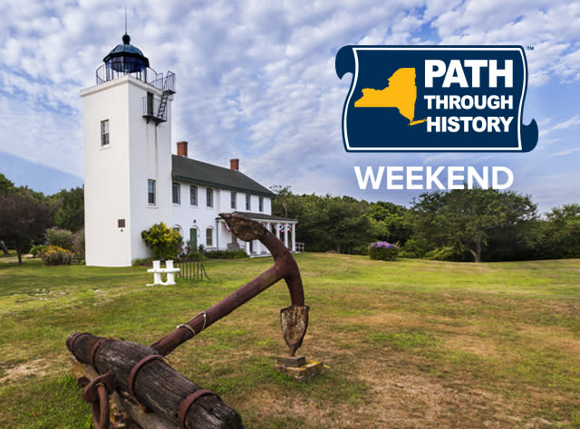 The Horton Point Lighthouse Museum with the Path Through History Weekend logo