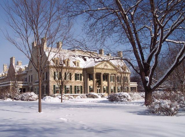 George Eastman House in Snow