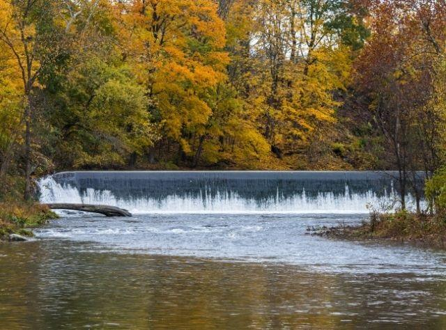 Waterfall along Claverack Creek in Stottville