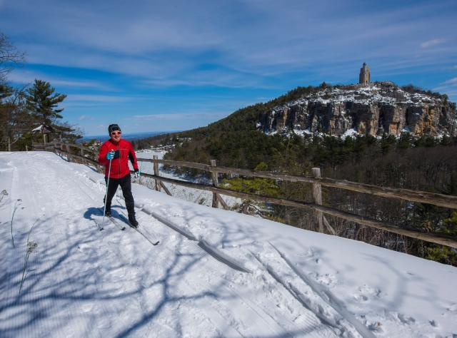 Cross Country skiing on top of the Shawangunk Ridge