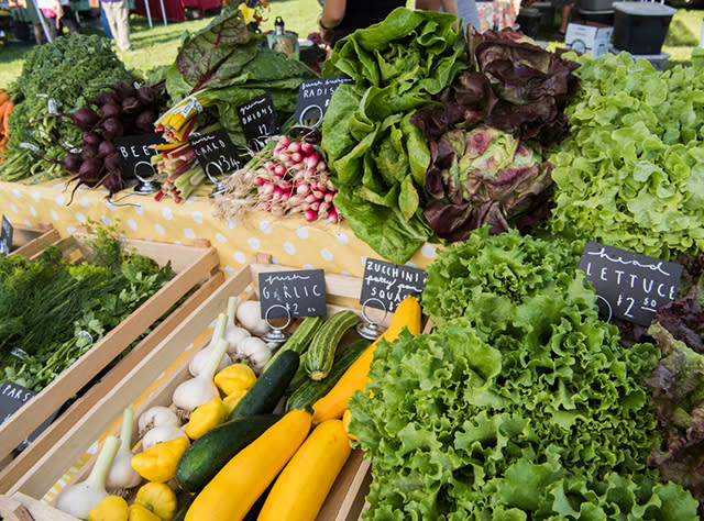 A picture of produce at the Ithaca Farmers Market