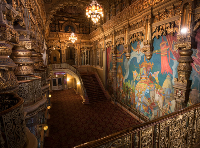 A photo of the inside architecture of the Landmark Theatre in Syracuse