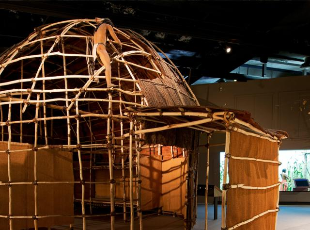 The Mohawk Iroquois Longhouse at the New York State Museum