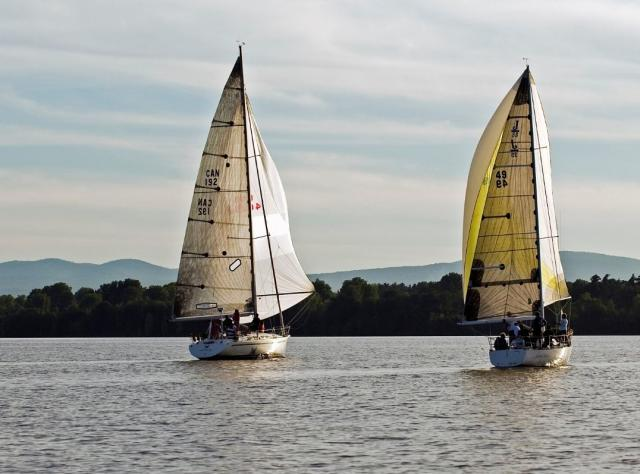 Three sailboats on Lake Champlain, photo by Darren McGee