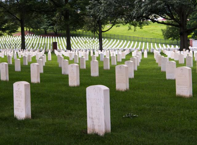 Tombstones at the Woodlawn National Cemetery