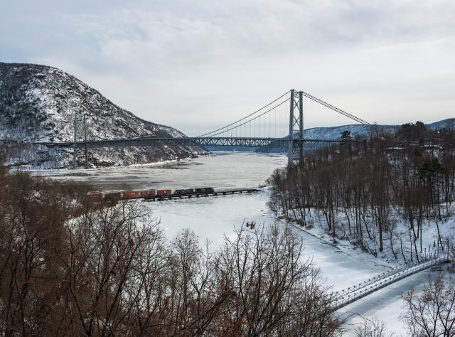 Bear Mountain Bridge by Fort Montgomery