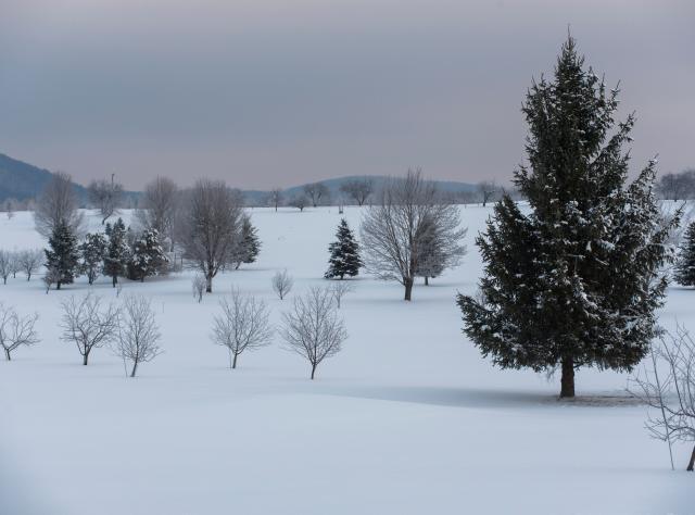 Winter Scenic along US Route 20 in LaFayette