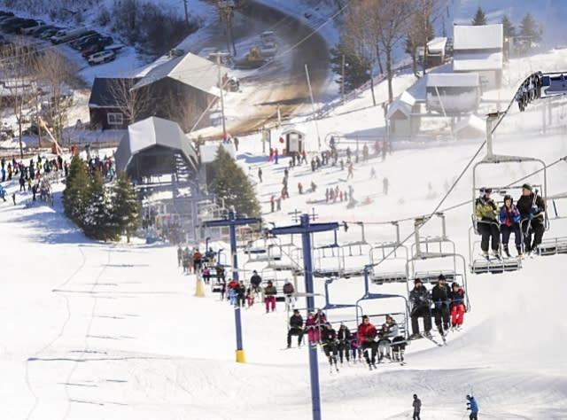 Riding Lift at Ski Plattekill
