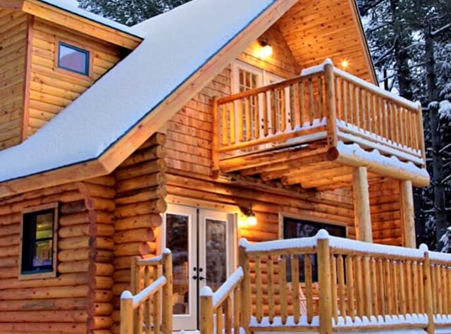 Adirondacks Winter Cabin  - Photo Courtesy of Glamping Hub