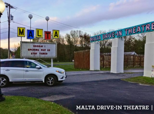 Outside the Malta Drive-in Movie Theater