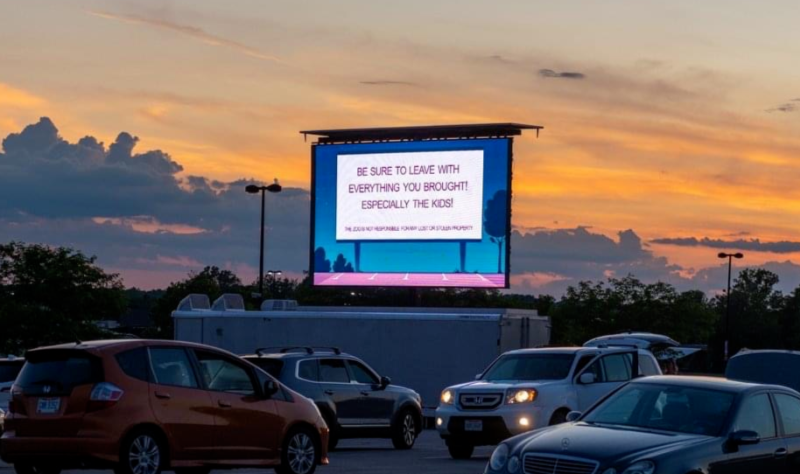 Drive-in Movie Screen In Columbus, Ohio