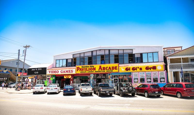 Two story arcade in Garden City Beach