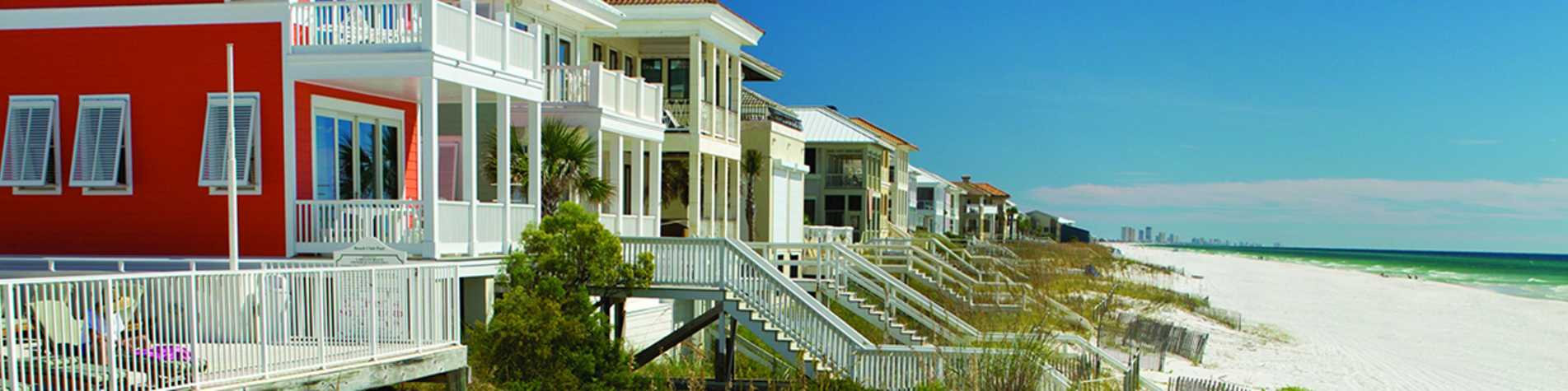 Beach Houses Townhome Rentals Panama City Beach Fl