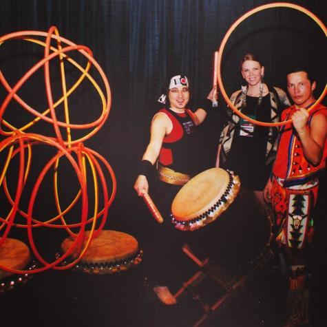 Steph and Hoop Dancers