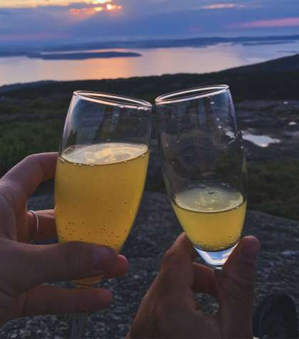 Mimosas on Cadillac Mountain