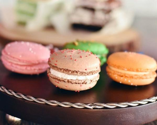 Variety of macarons at Baked by Beena