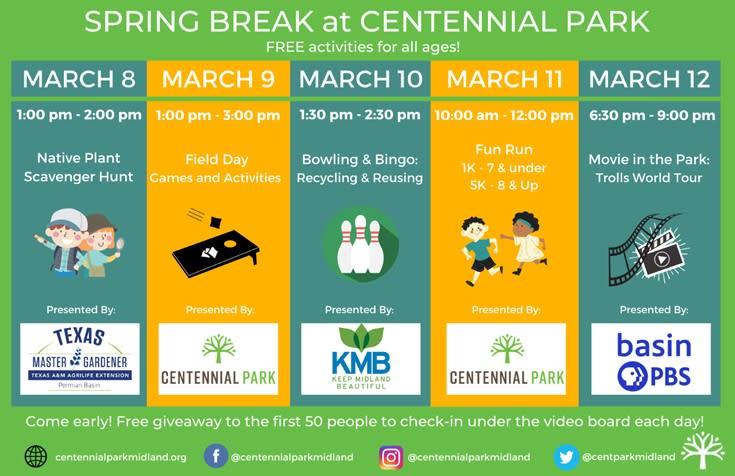 Spring break at Centennial Park 2021