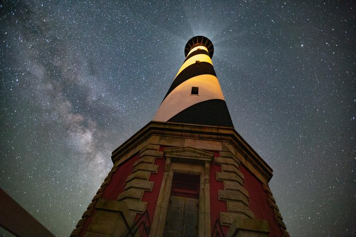 cape hatteras lighthouse night stars