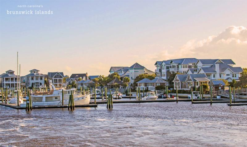 Marina at Bald Head Island, North Carolina.