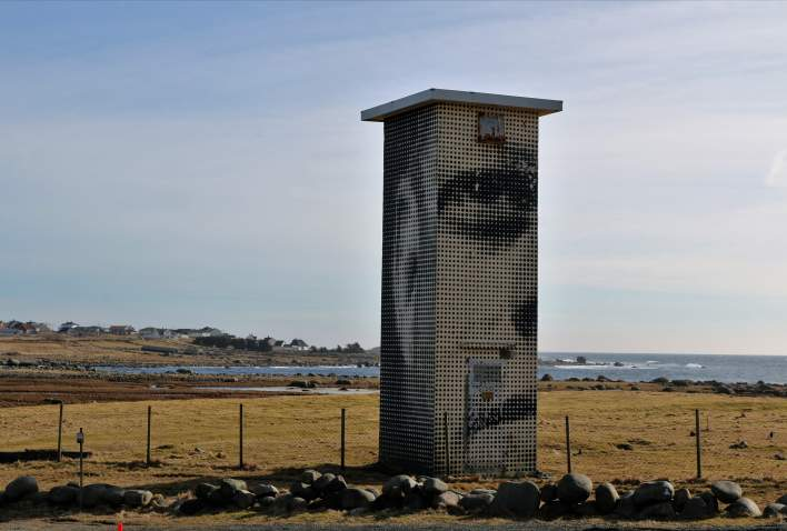 John F. Kennedy sculpture Lista Lighthouse in Southern Norway