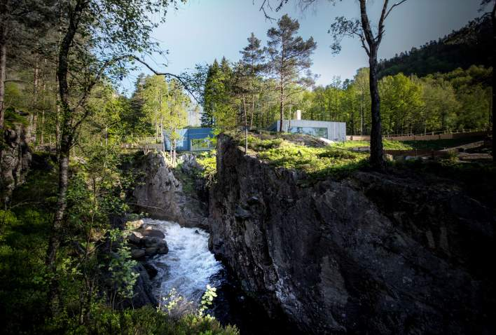 Kvåsfossen salmon centre Lyngdal in Lyngdal
