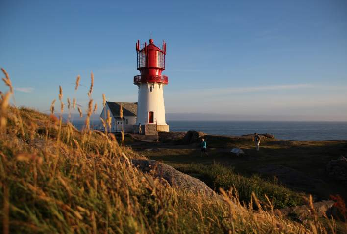 Lindesnes lighthouse is Norway's southernmost point