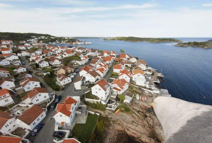 Sørlandet er Sommerferie - Se Sørlandet fra måke view