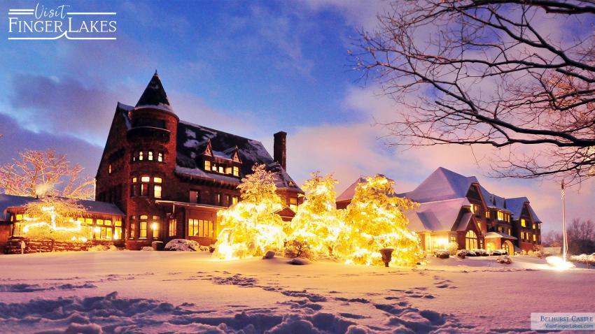 Belhurst Castle in the snow