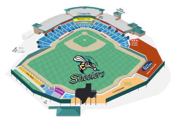 Seating chart for Constellation Field.