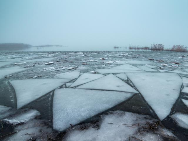 Utah Lake Winter Ice
