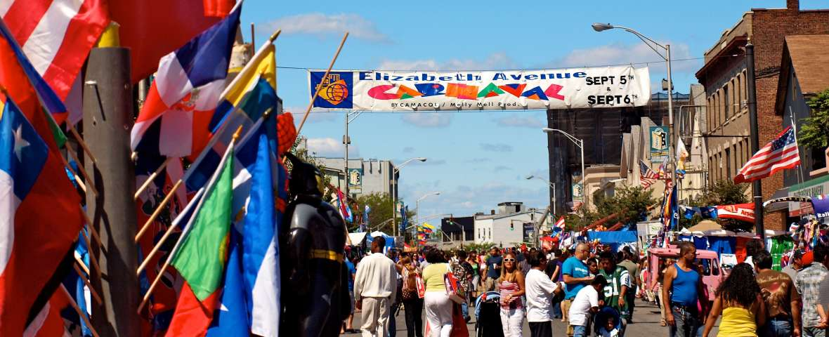 Street View of the Elizabeth Avenue Carnival