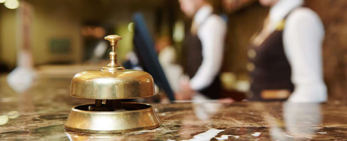 A concierge bell at a hotel in Elizabeth, NJ