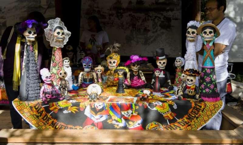 Dia De Los Muertos altar in Oakland, CA