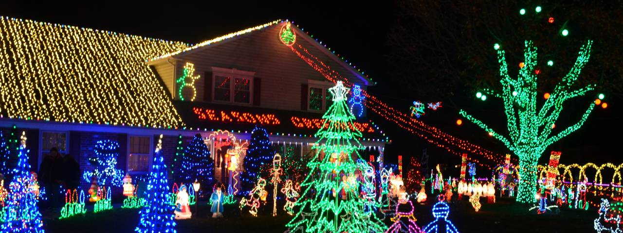 Holiday Light Displays in Montgomery County