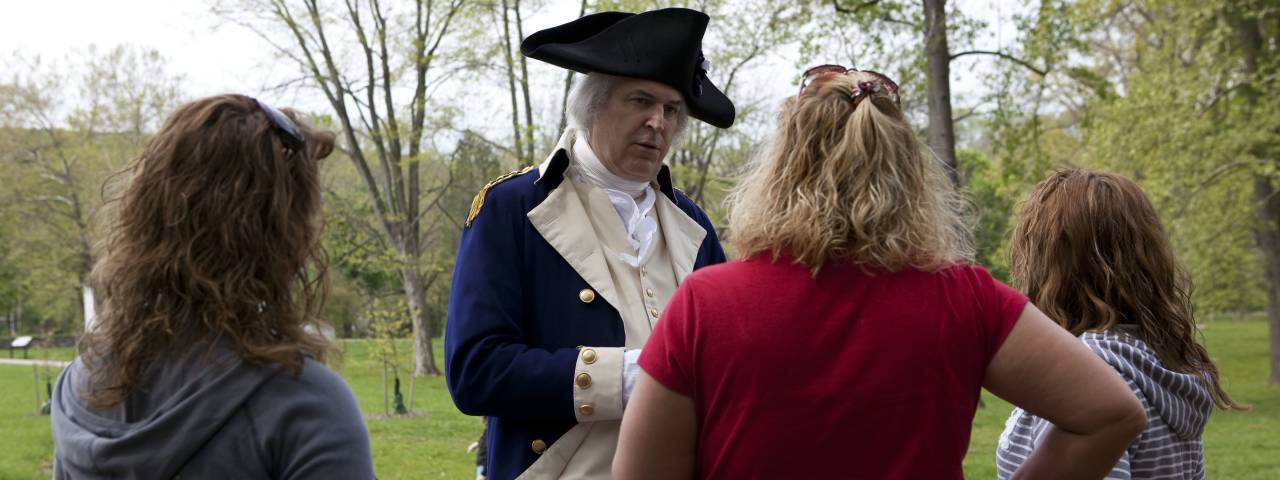 Walk with Washington is a chance to tour Washington's Headquarters at Valley Forge with the General himself