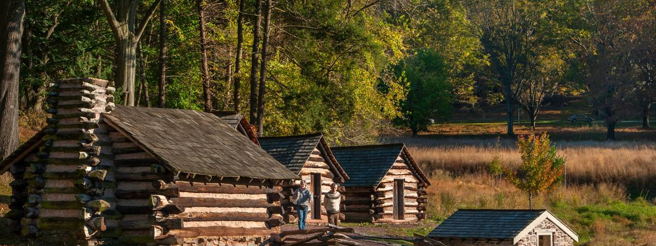 Valley Forge Park Cabins Fall