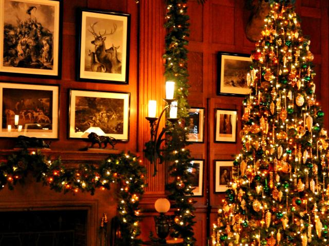 Christmas at Biltmore Billiards Room