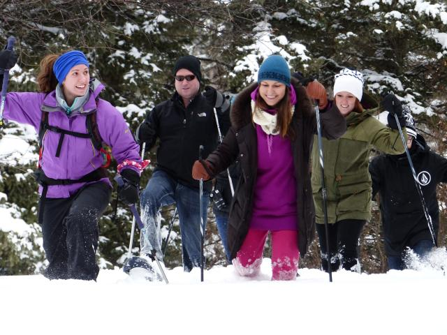 Snowshoeing in Riding Mountain Park